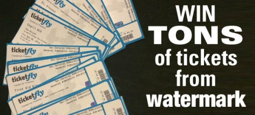 Watermark is making it rain concert tickets for two lucky winners!