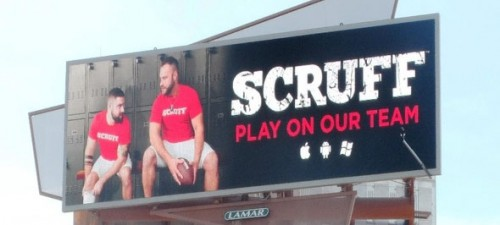 Scruff targets Superbowl fans outside of stadium