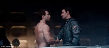 Naked Jai Courtney (here with Jason Clarke) is only worth watching when he's without clothes.