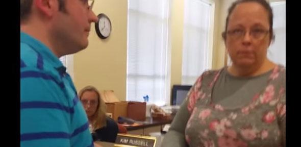 kim davis kentucky clerk bigot