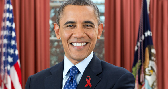 ObamaAIDSRibbonAbstr