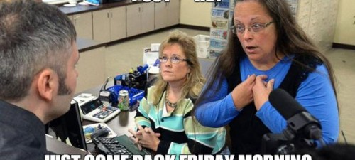 Twitter handle @NextToKimDavis has a lot to say about Kentucky clerk