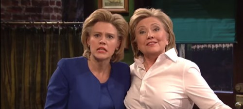 """Clinton plays Val the bartender in """"SNL"""" skit"""