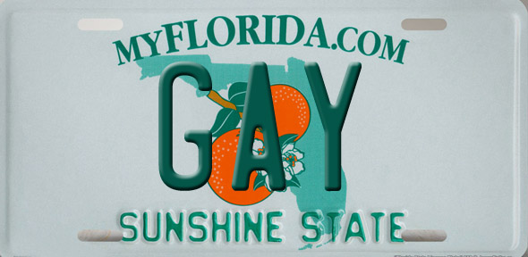 License plates for gay