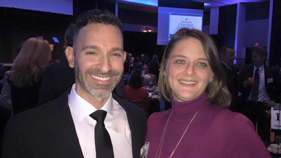 Carlos Carbonell and Orlando Mayor Buddy Dyer's Deputy Chief of Staff Heather Fagan