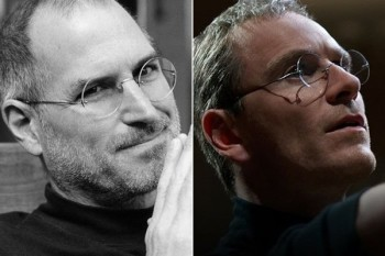 The comparison between the real Job and Michael Fassbender as Jobs works.