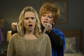 Kristen Bell has the same look most audiences had after the film; it's a wonder that talented people like Melissa McCarthy and her end up in dreck like this.