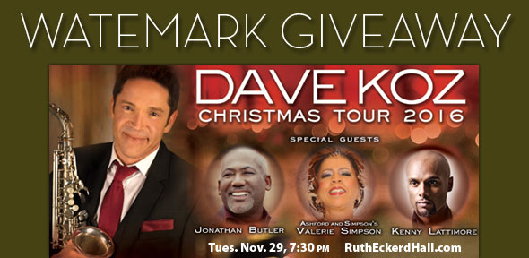 Watermark Giveaway: Dave Koz Christmas Tour 2016 at Ruth Eckerd ...