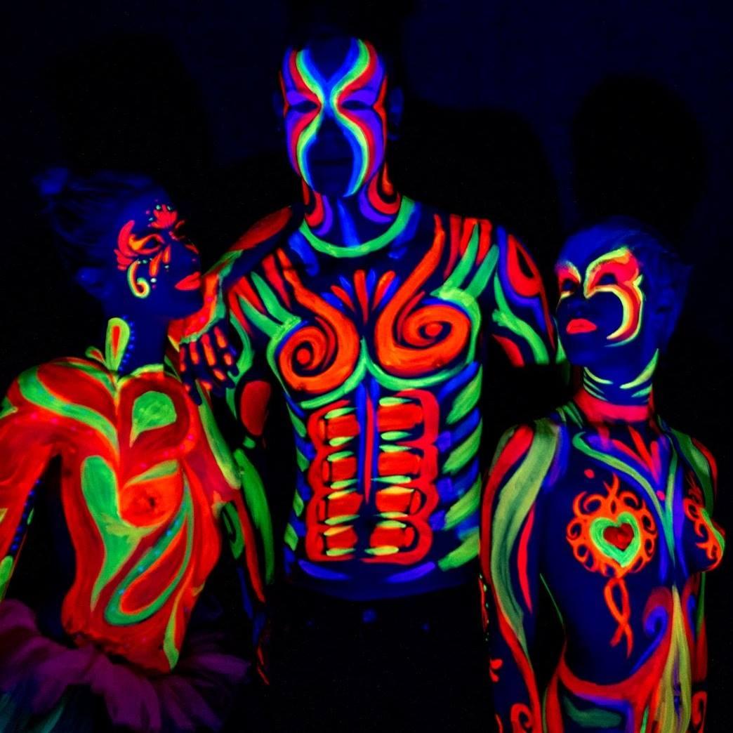 Base Black Light Body Paint Art Show Watermark Online