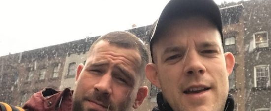 Russell Tovey and his partner Steve Brockman are engaged