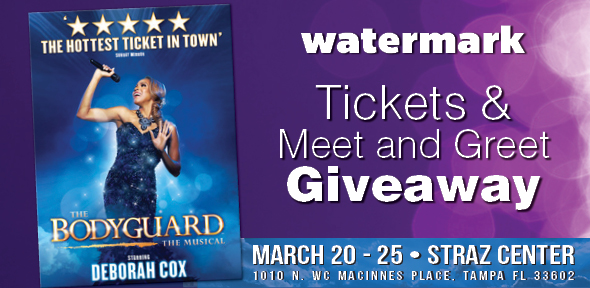 Watermark giveaway tickets to see the bodyguard and meet star watermark giveaway tickets to see the bodyguard and meet star deborah cox m4hsunfo