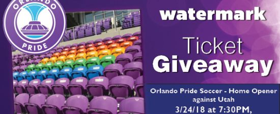 Watermark Giveaway: Tickets to see Orlando Pride soccer!
