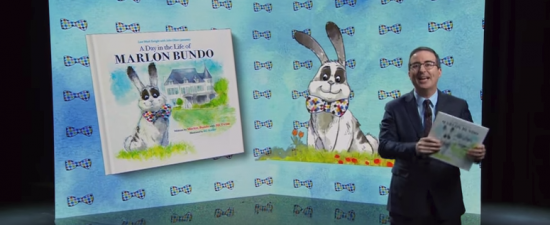 John Oliver spoofs Pence picture book about bunny, tops best seller list