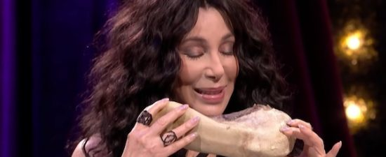 Watch: Cher eats cow tongue instead of saying something nice about Trump