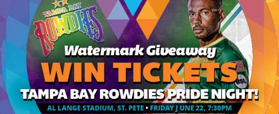 Watermark Giveaway: Two sets of tickets to see Tampa Bay Rowdies Pride Night Game