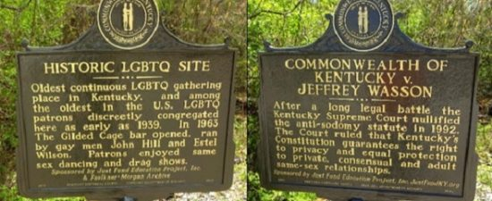 Two historical markers commemorate Kentucky's LGBTQ history