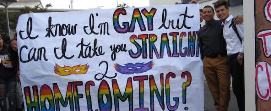 Gay high school student asks straight football captain to homecoming