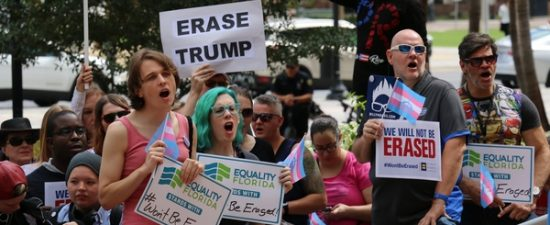 PHOTOS: 'We won't be erased' rally held at Orlando City Hall after Trump administration's anti-trans memo leaked