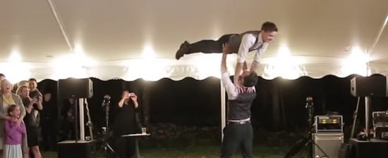 Watch: grooms recreate 'Dirty Dancing' for first wedding dance