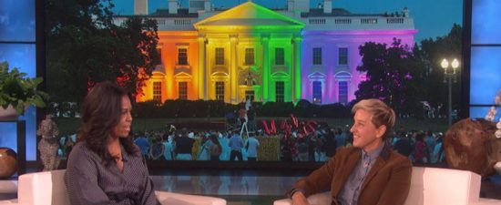Watch: Michelle Obama tells Ellen how she tried to escape the White House to celebrate same-sex marriage