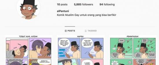 Gay Muslim comic gone from Instagram after Indonesia warning