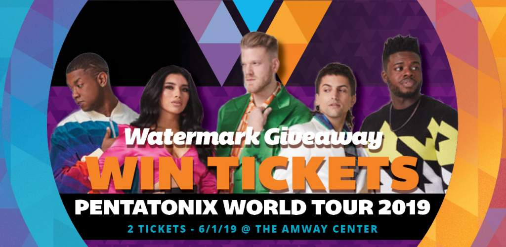Watermark Giveaway: Tickets to see Pentatonix w/ Rachel
