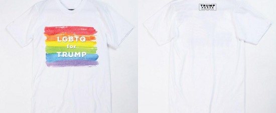 Trump is selling 'LGBTQ for Trump' rainbow shirts ahead of Pride month