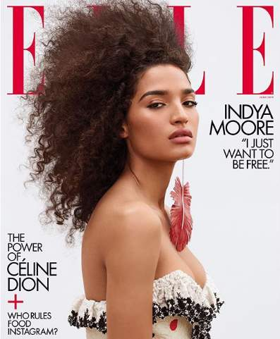 Indya Moore is the first transgender woman to cover Elle Magazine