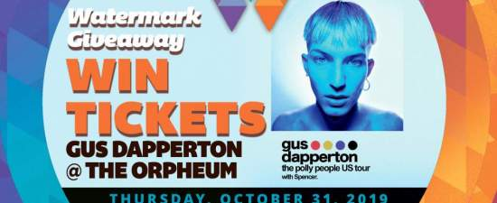 Watermark Giveaway: Tickets for Gus Dapperton in Tampa on Halloween